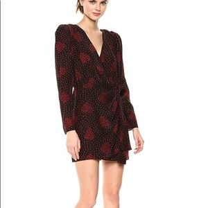 The Kooples silk wrap dress Heart Bouquet print 0